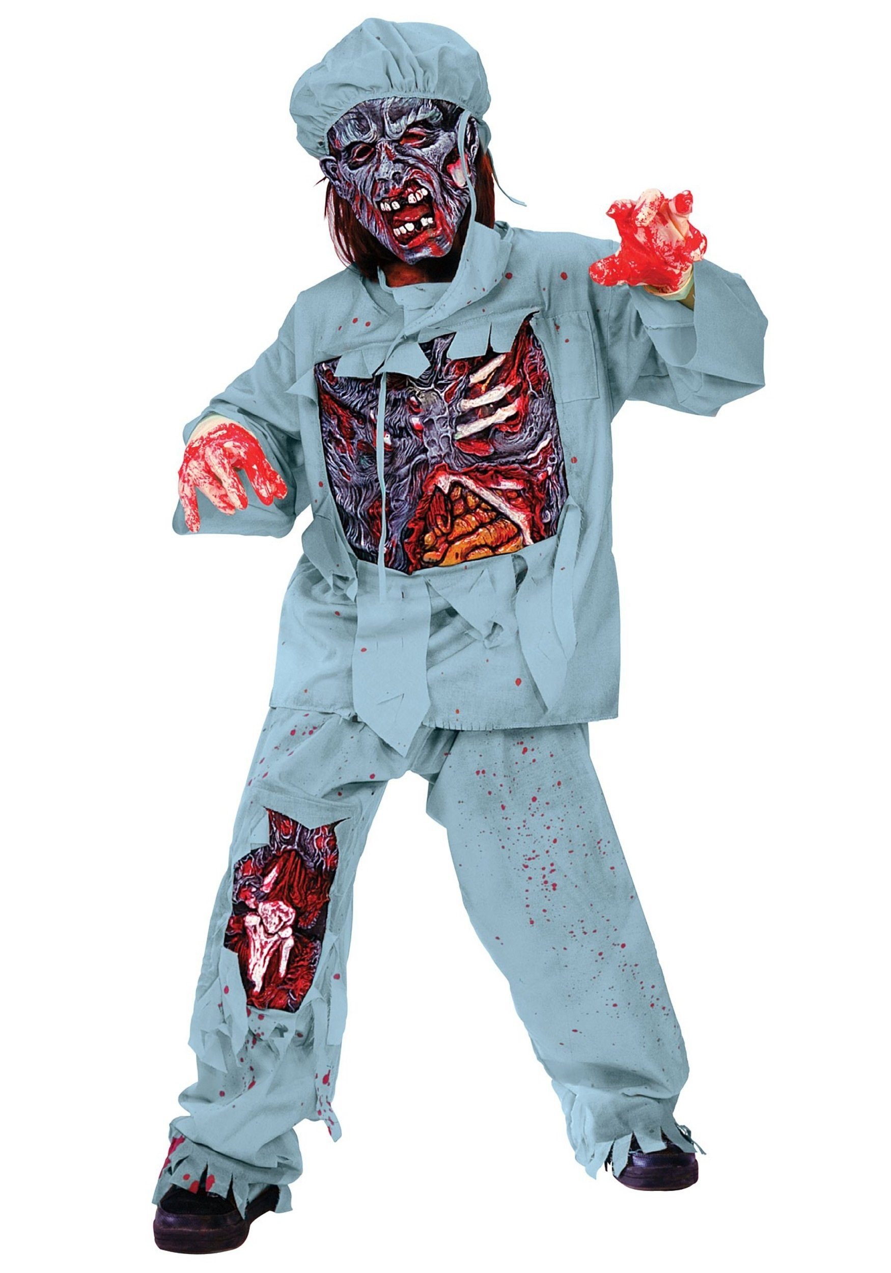 10 Attractive Zombie Costume Ideas For Kids child zombie doctor costume 2021