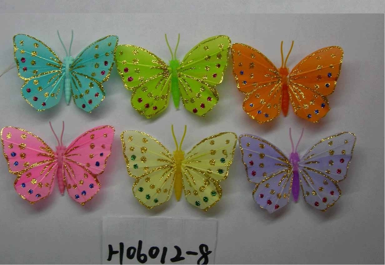 china artificial crafts feather butterfly - tierra este | #34238