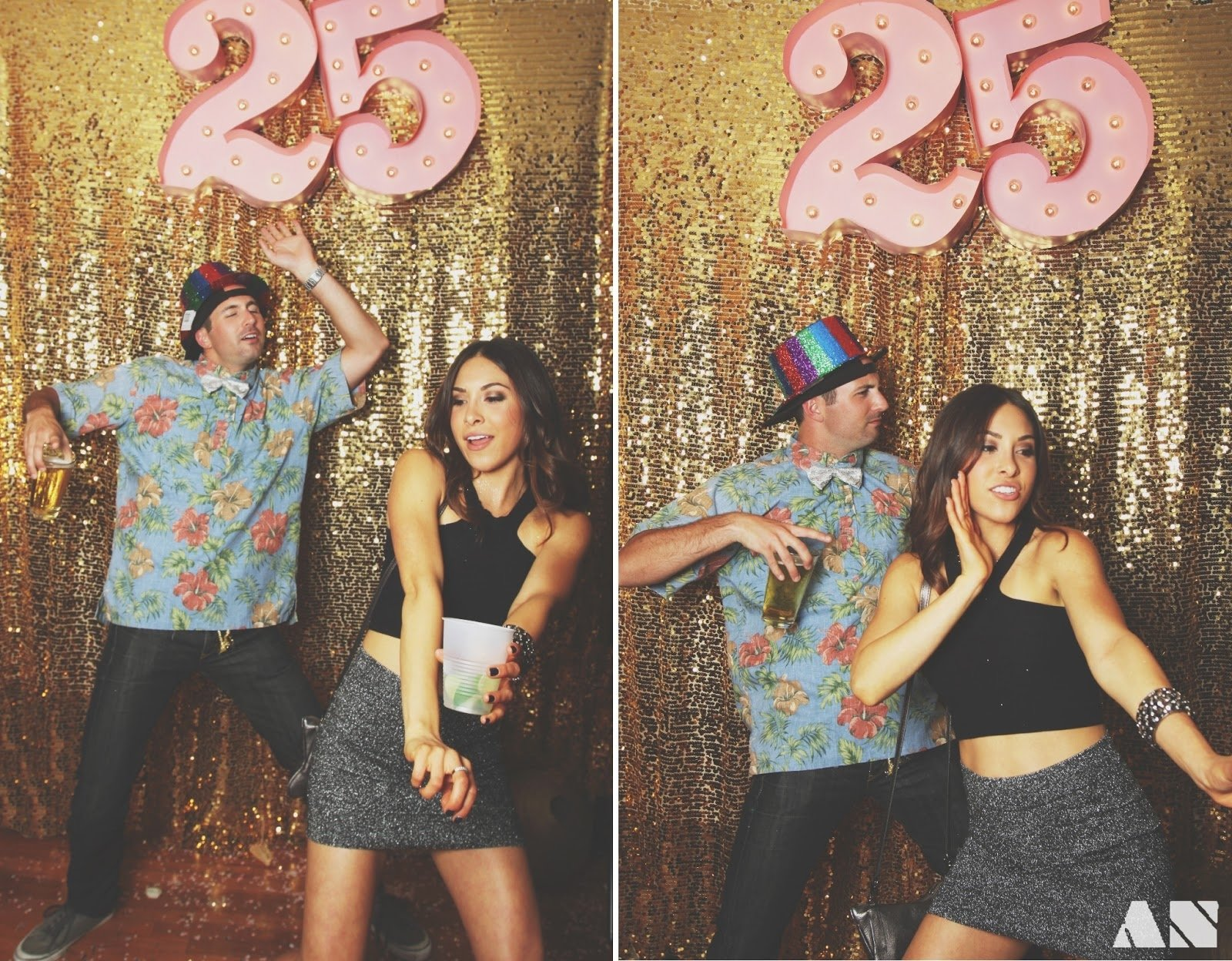 10 Spectacular Ideas For 25Th Birthday Party chloe moore photography the blog glitterfest a glittery golden 1 2020