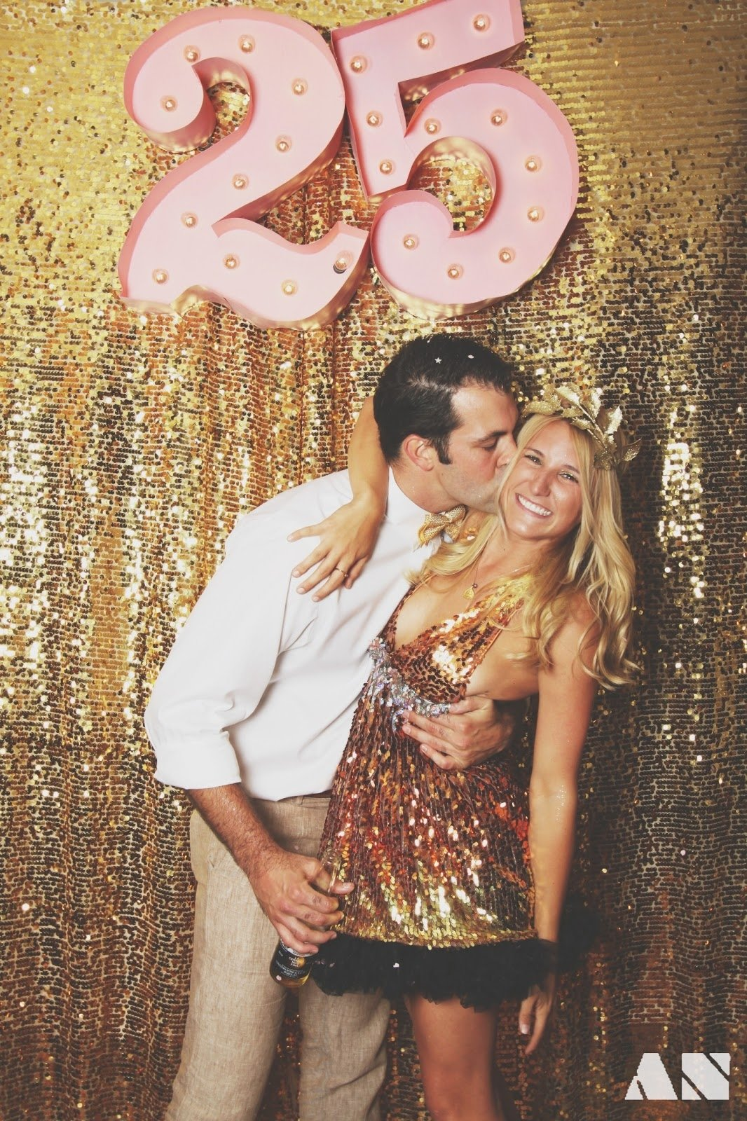10 Spectacular Ideas For 25Th Birthday Party chloe moore photography the blog glitterfest a glittery golden 2020