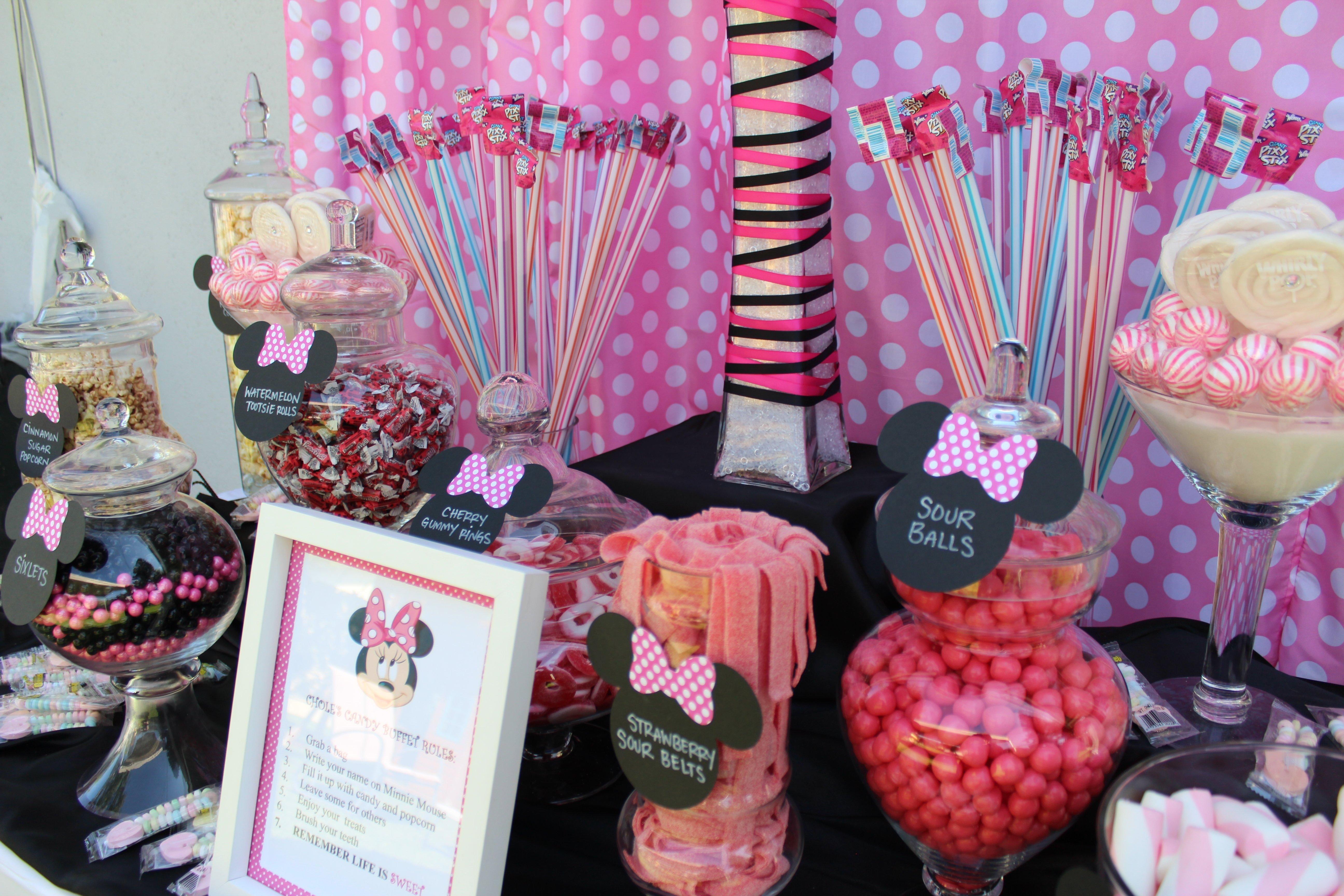 10 Wonderful Minnie Mouse Candy Bar Ideas chloes minnie mouse candy buffet sweet love candy buffet company 2021