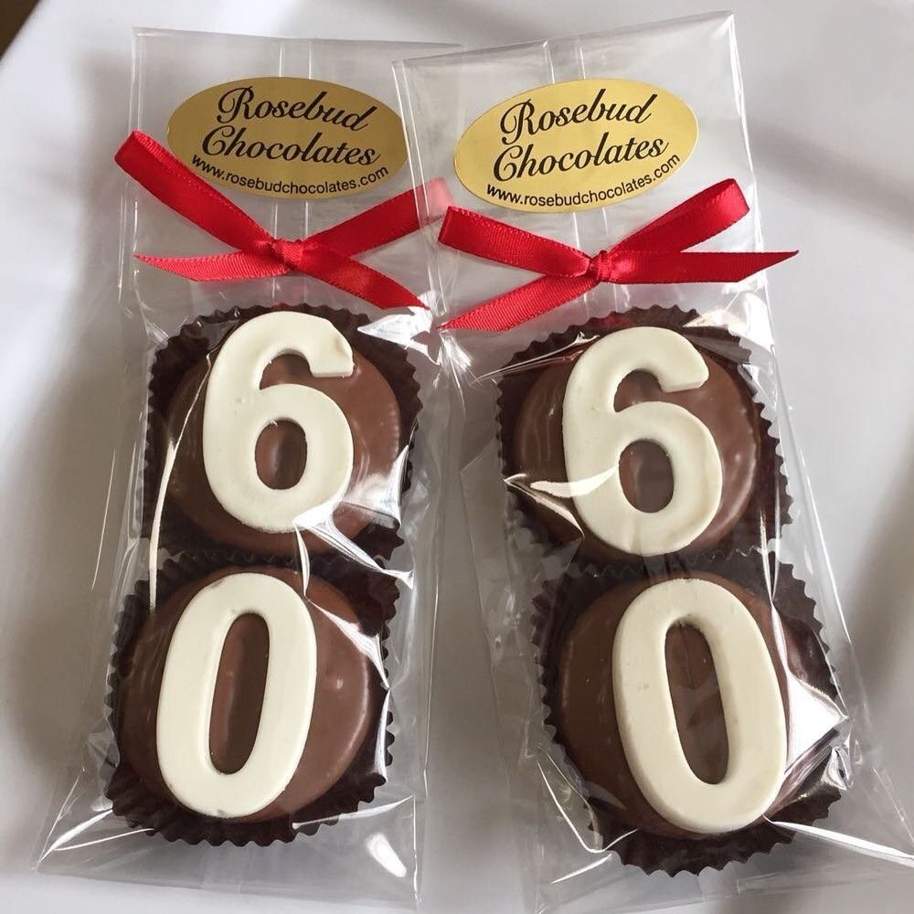 10 Gorgeous 60Th Birthday Party Favors Ideas Chocolate 60th Number Motive