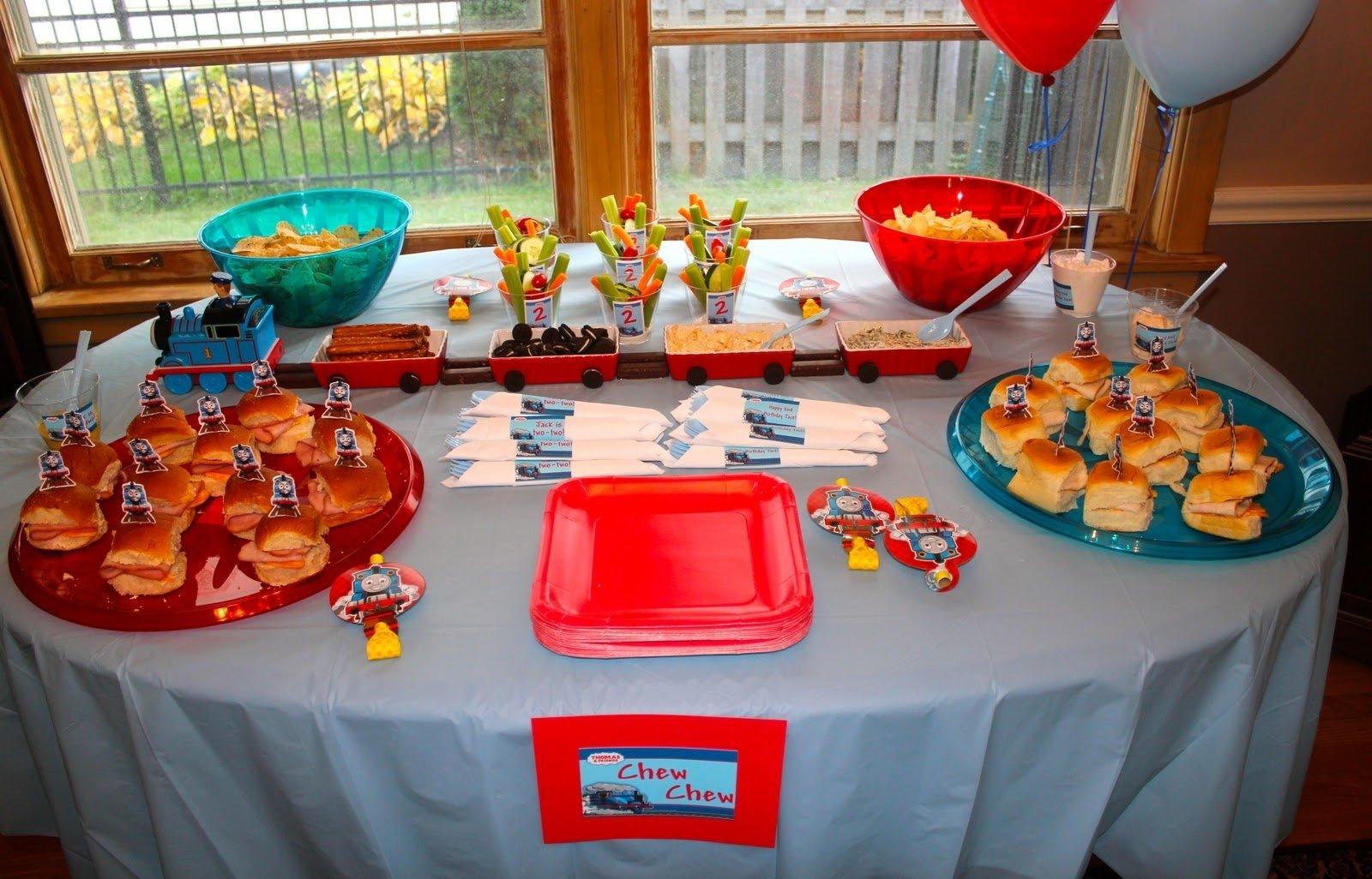 10 Fabulous Thomas The Train Party Food Ideas choo choo train birthday party 2021