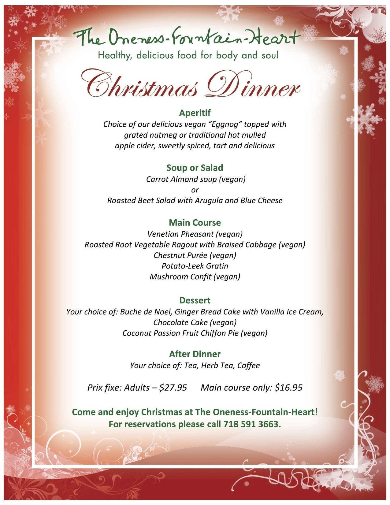 10 Cute Traditional Christmas Dinner Menu Ideas christmas at the oneness fountain heart the oneness fountain heart 2021
