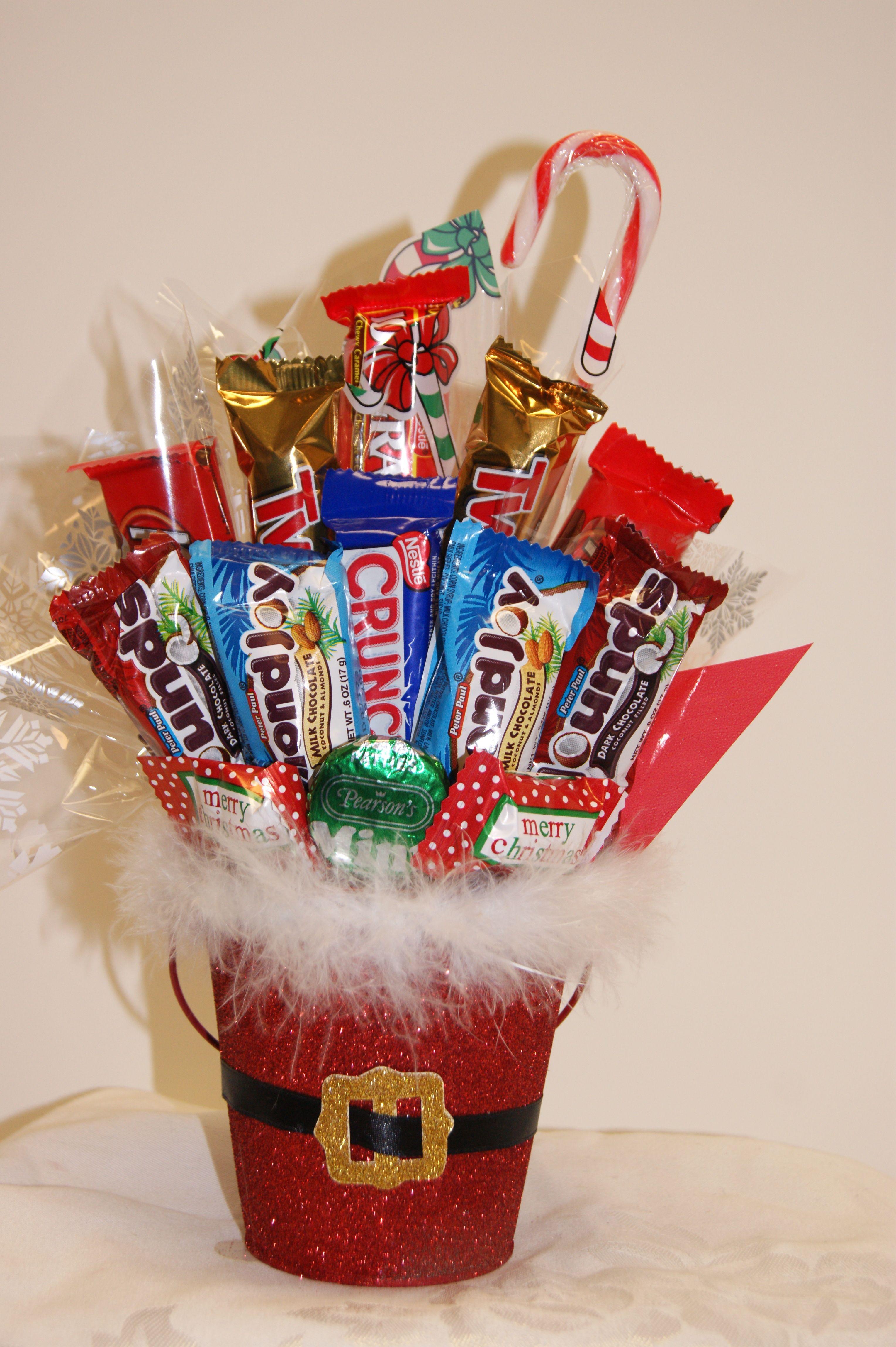 christmas candy bouquets | christmas santa pail bouquet | bouquets