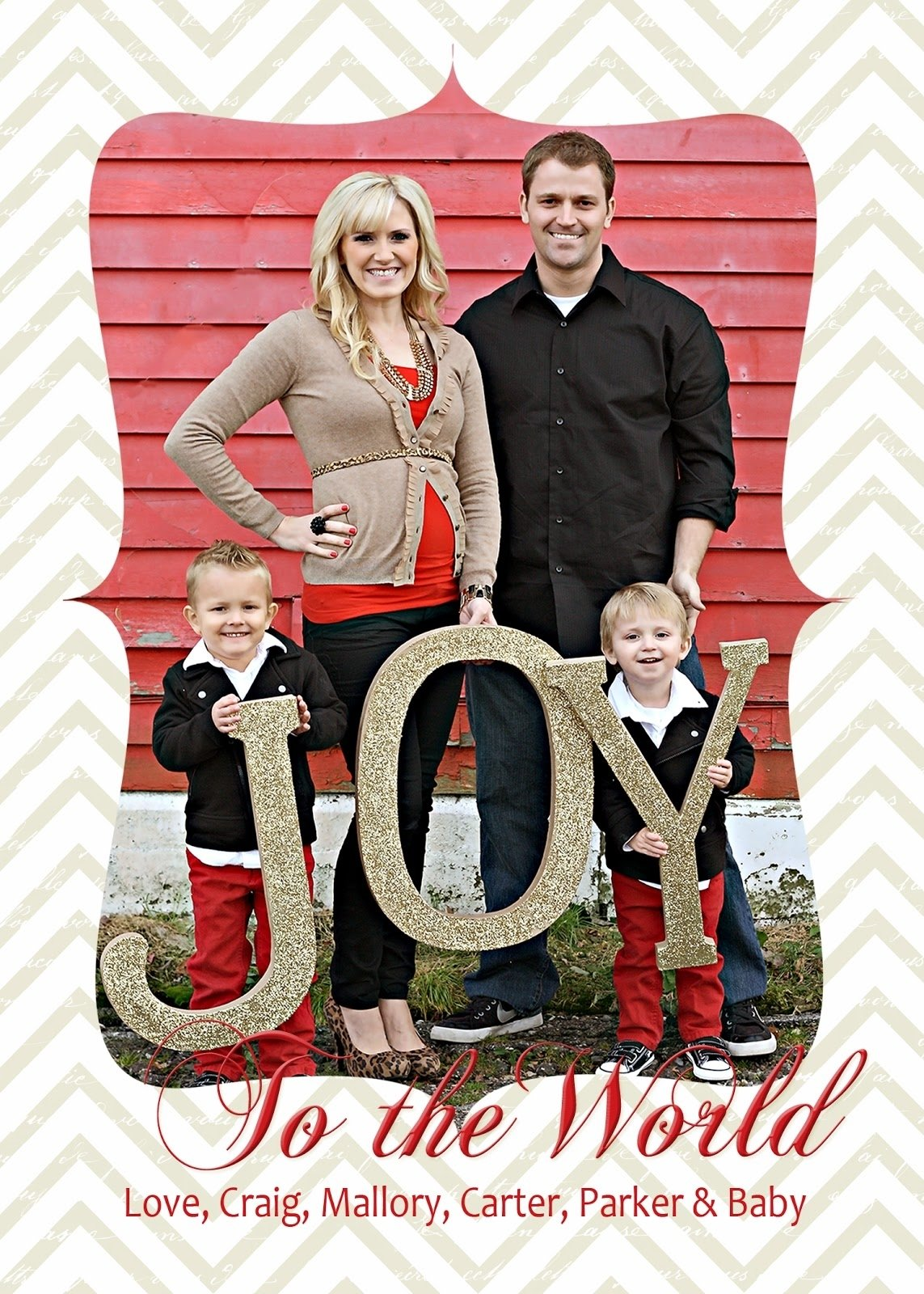 10 Unique Family Christmas Card Picture Ideas christmas card idea turned christmas decor classy clutter 2