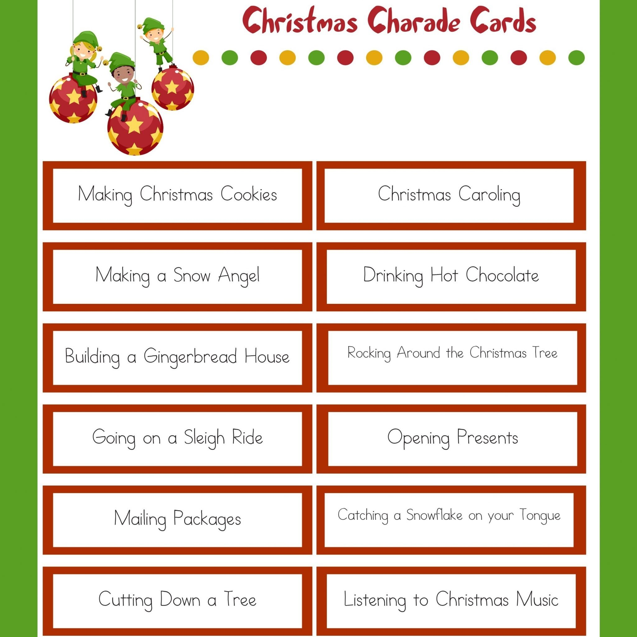 10 Stylish Funny Charades Ideas For Adults christmas charades family christmas party game 2020