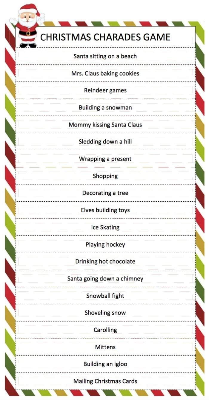 10 Great Naughty Or Nice Christmas Party Ideas christmas charades game charades game charades and free printable 2021
