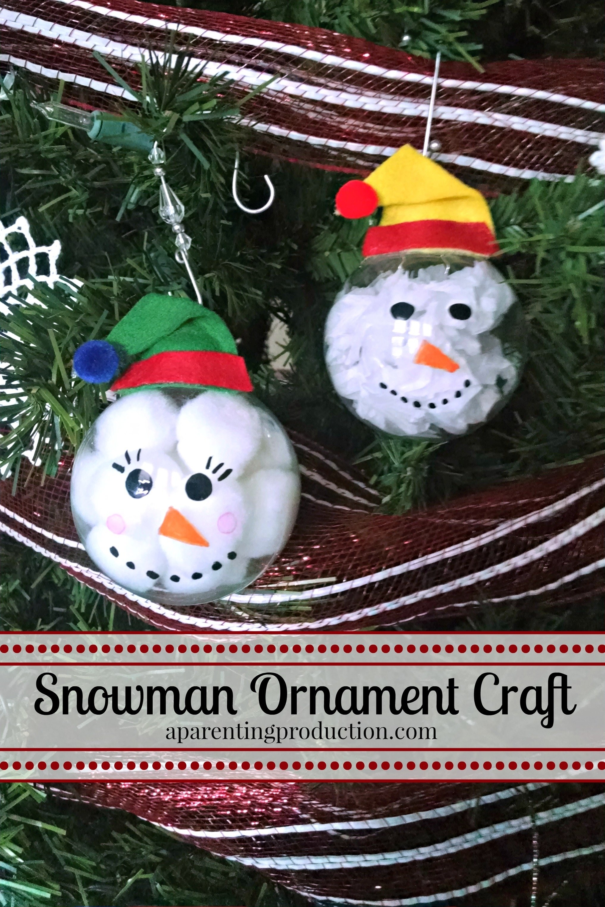 10 Gorgeous Christmas Ornament Craft Ideas For Kids christmas craft make your own snowman ornament 1 2021