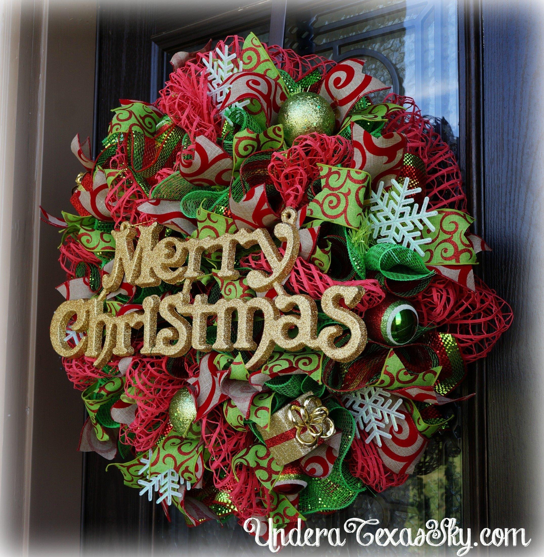 10 Lovely Christmas Deco Mesh Wreath Ideas christmas deco mesh wreath instructional tutorial under a texas sky 2020