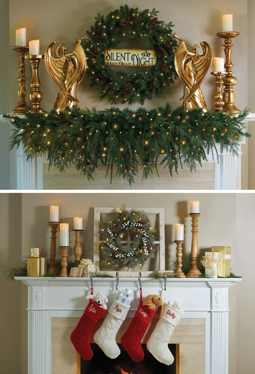 10 Wonderful Christmas Decorating Ideas For Mantels christmas decor ideas dress your home to impress improvements blog 2020