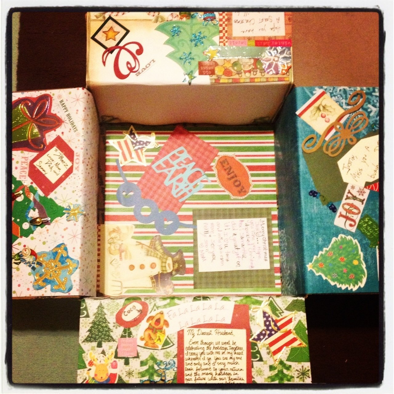 10 Ideal Christmas Care Package Ideas For Soldiers christmas deployment care package decorated box for husband diy 2021