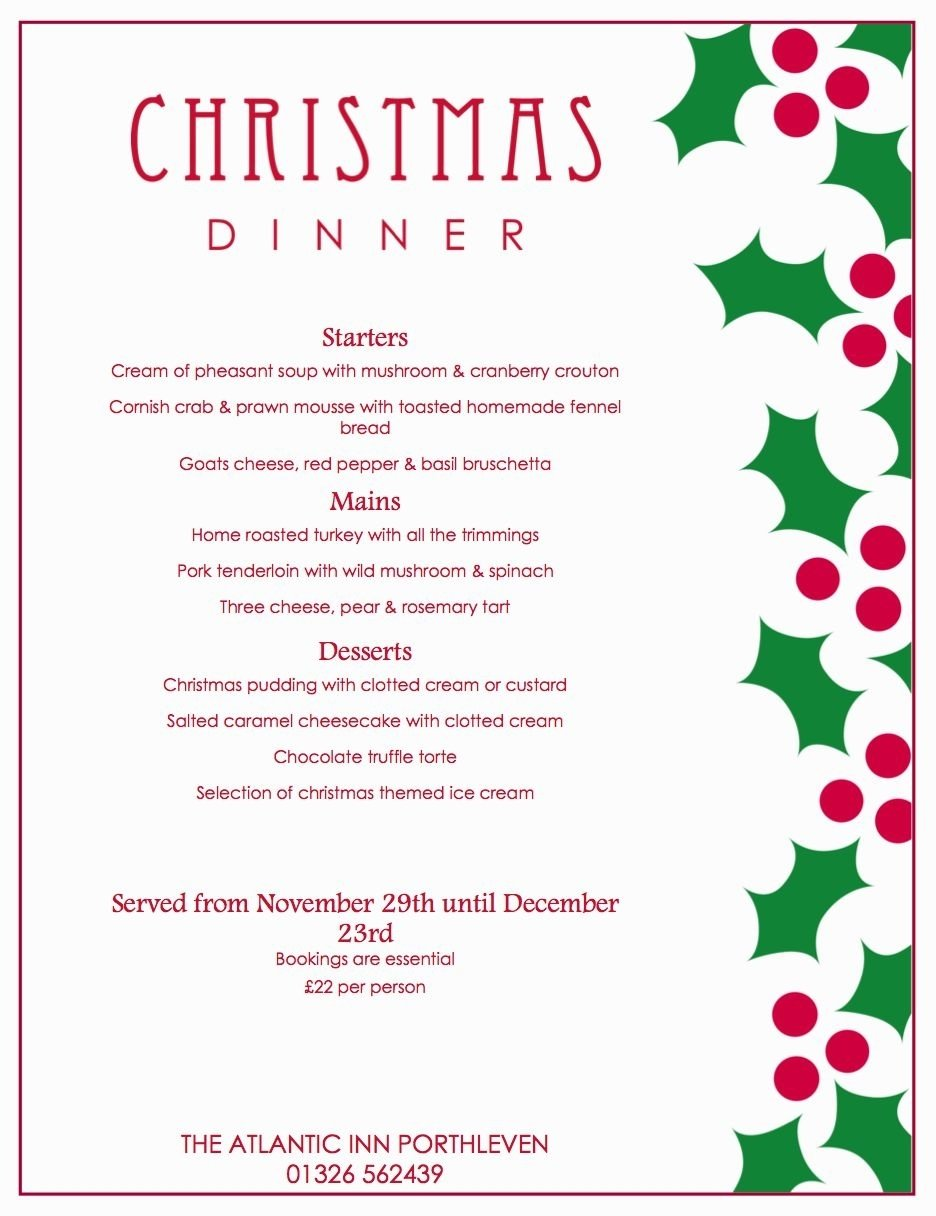 10 Pretty Ideas For Christmas Dinner Menu christmas dinner party menu ideas archives decorating of party 2021