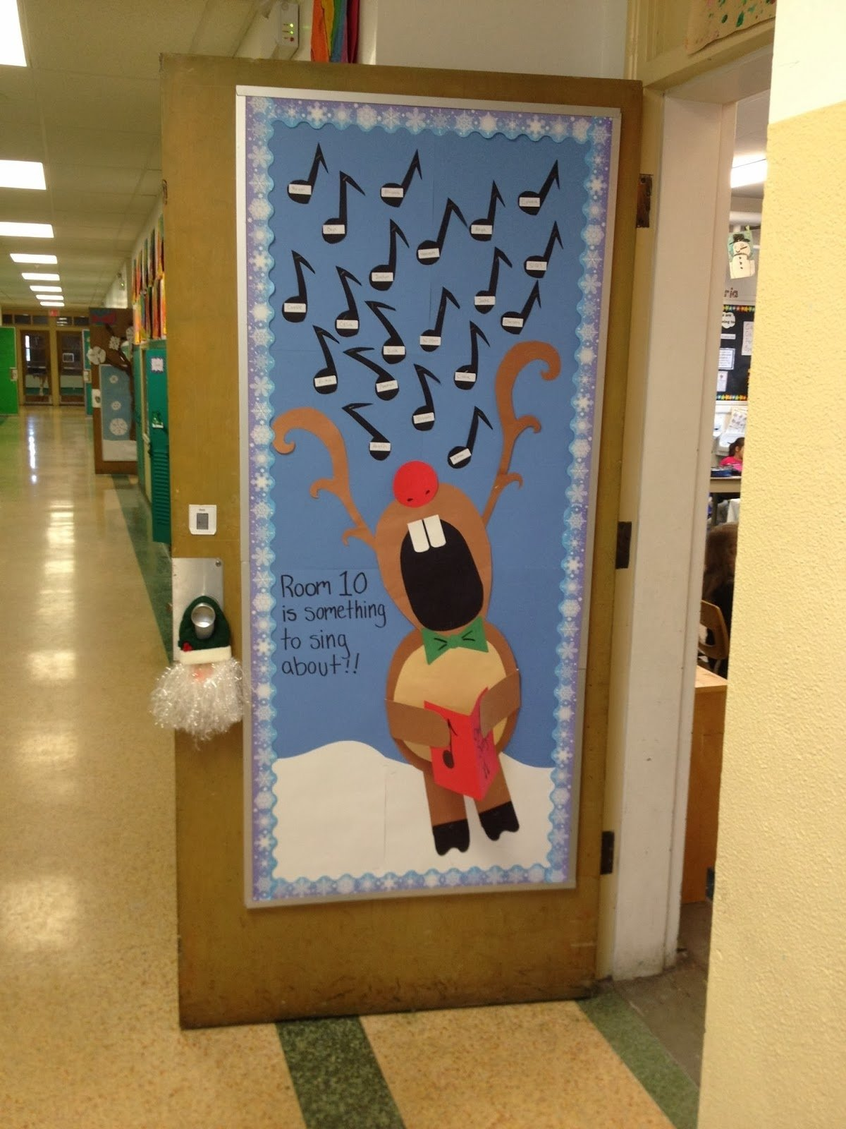 10 Famous Door Decoration Ideas For Christmas christmas door decorations for a classroom the unique ideas of