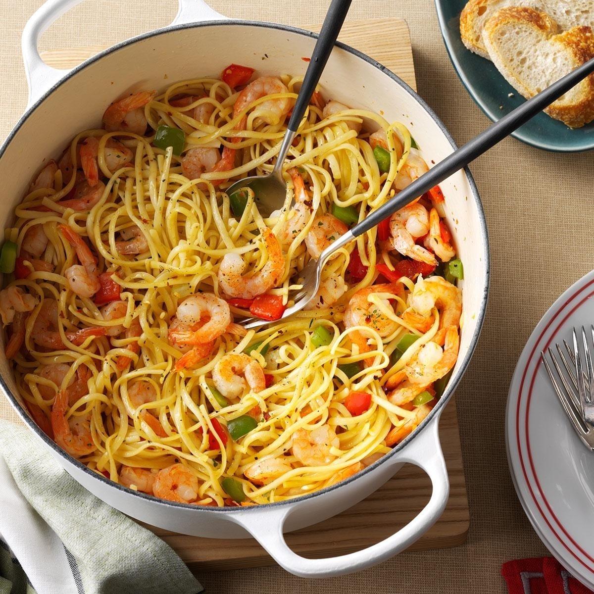 christmas eve confetti pasta recipe | taste of home