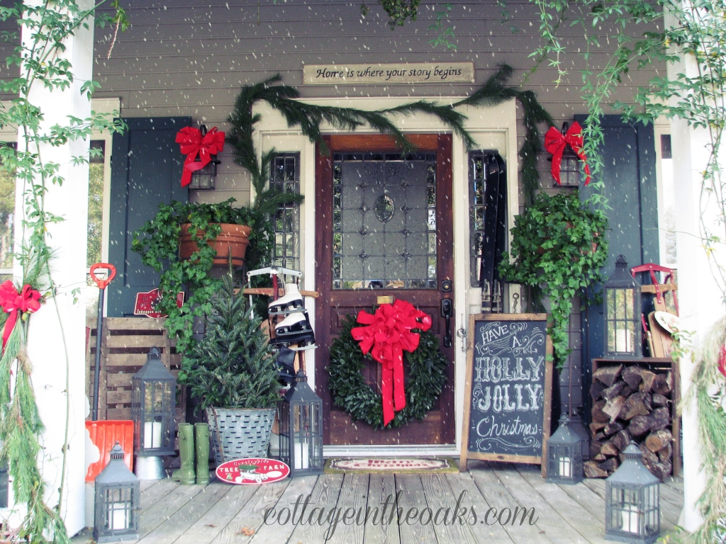 10 Lovable Christmas Front Porch Decorating Ideas christmas front porch 2012 cottage in the oaks 2020