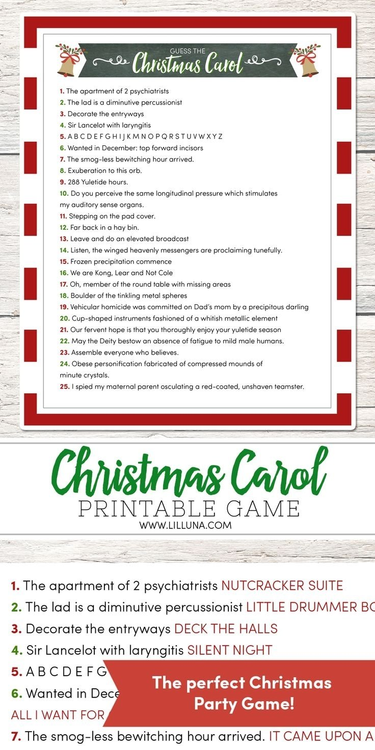 10 Most Recommended Christmas Game Ideas For Adults christmas game ideas for office parties wedding