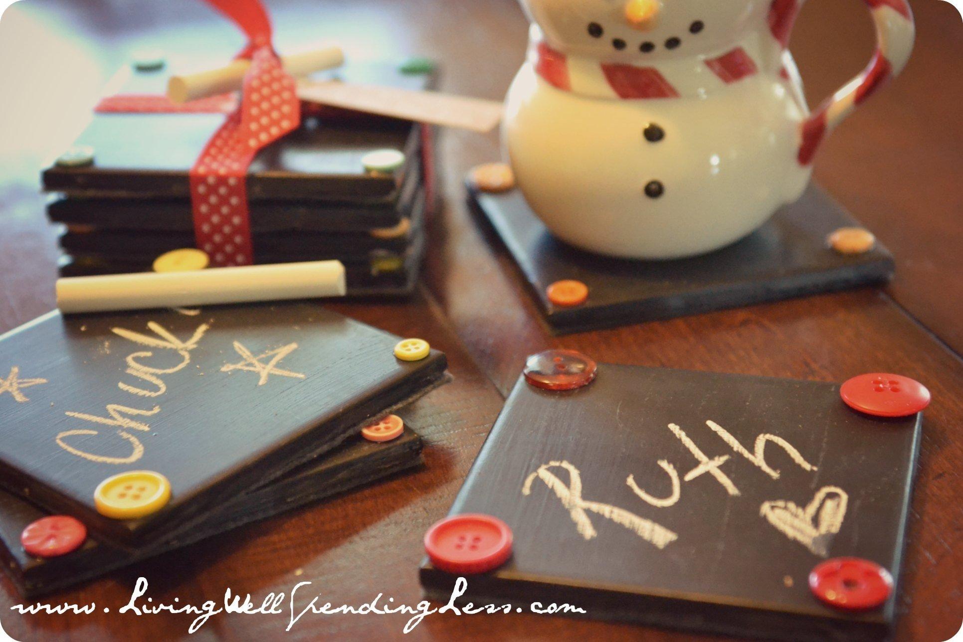 10 Fashionable Cute Christmas Gift Ideas For Friends christmas gift ideas for friends with others diy chalkboard coaster 2021