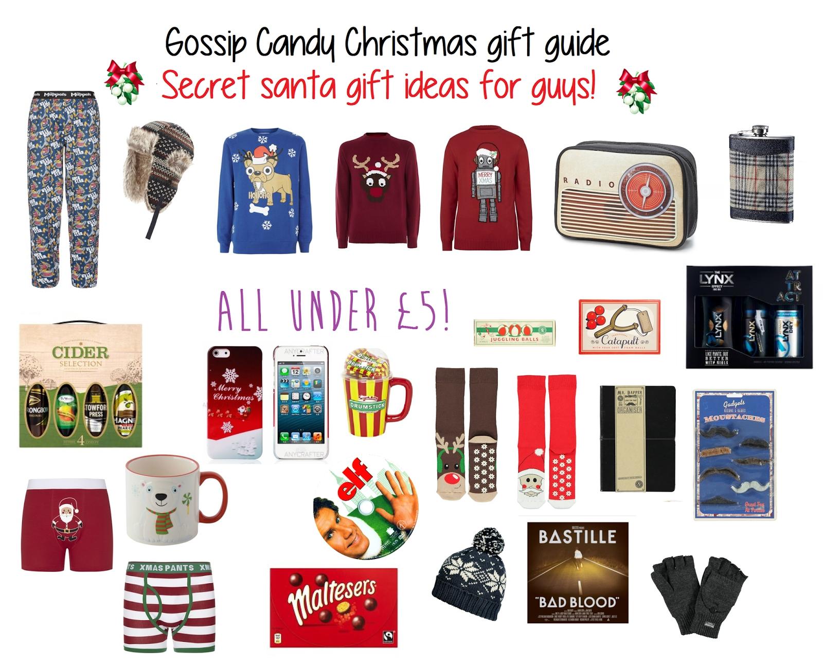 10 Lovable Secret Santa Gift Ideas For Guys christmas gift ideas for secret santa my web value 2021