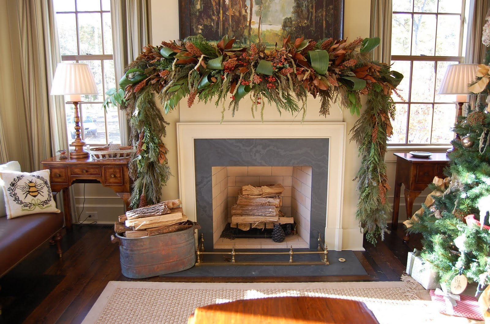 10 Famous Southern Living Fall Decorating Ideas christmas mantel decorated natural greenery southern living dma 2020