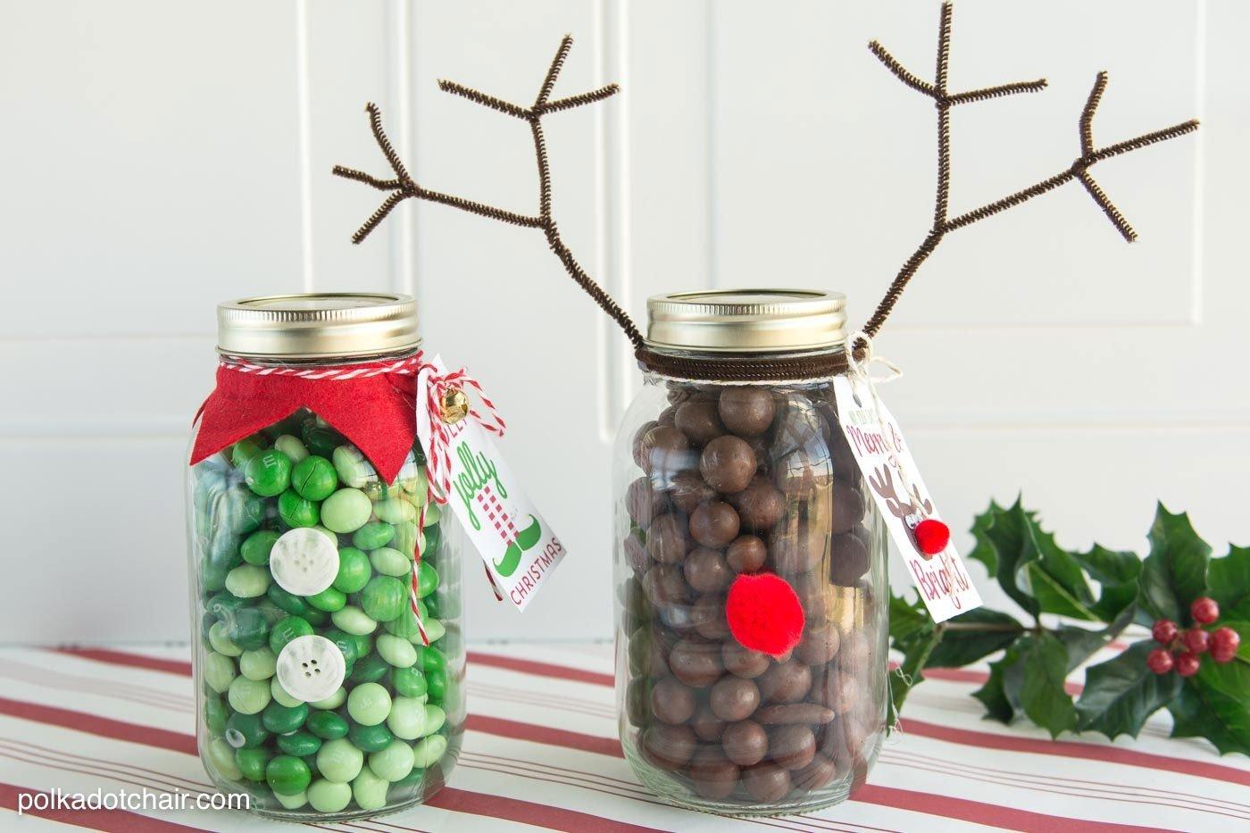 10 Cute Mason Jar Christmas Gift Ideas christmas mason jar gift idea