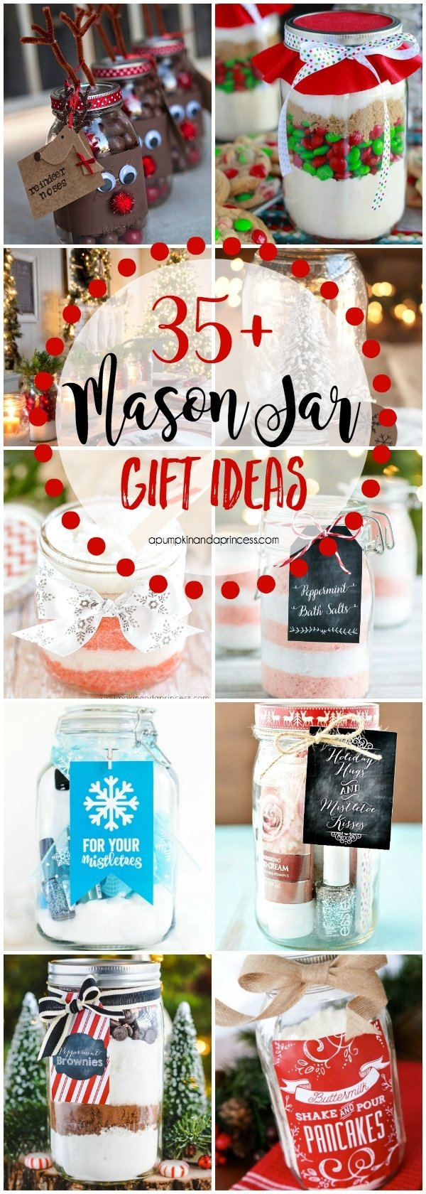 10 Cute Mason Jar Christmas Gift Ideas christmas mason jar gifts