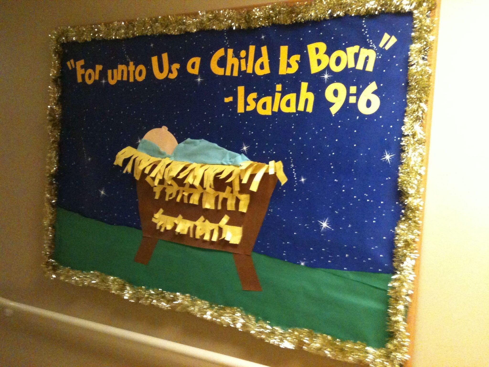10 Ideal Christmas Church Bulletin Board Ideas christmas nativity bulletin board sunday school pinterest 1 2020