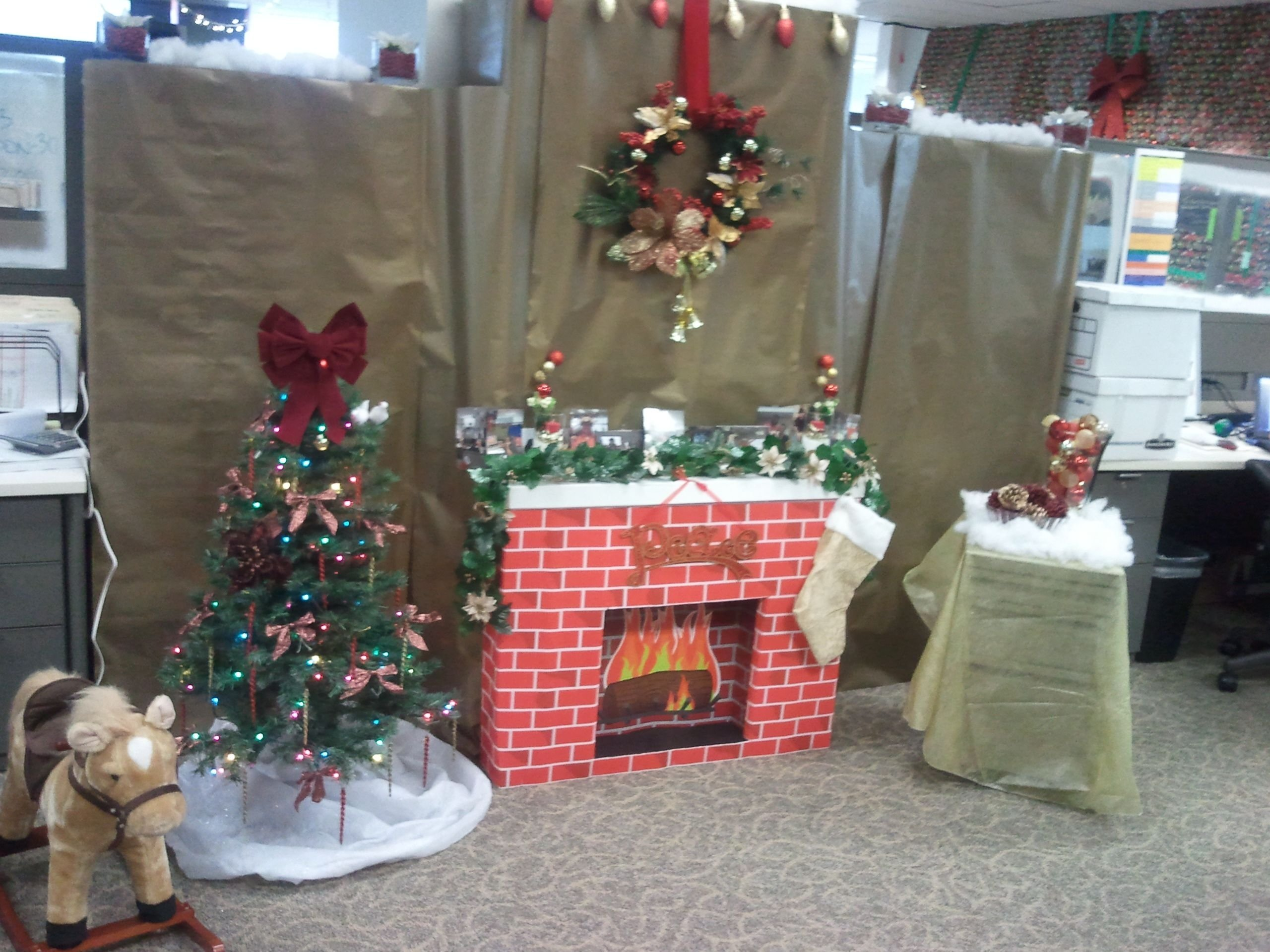 christmas office decorating.  Decorating 10 Attractive Office Cubicle Christmas Decorating Ideas Christmas Office  Decor Xmas Ideas Pinterest With L
