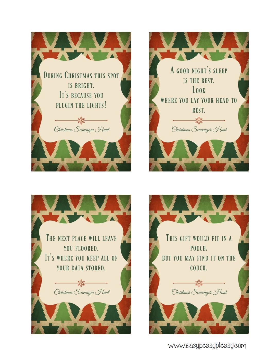 10 Fashionable Christmas Scavenger Hunt Ideas For Adults christmas scavenger hunt with free printable clues easy peasy pleasy 2020