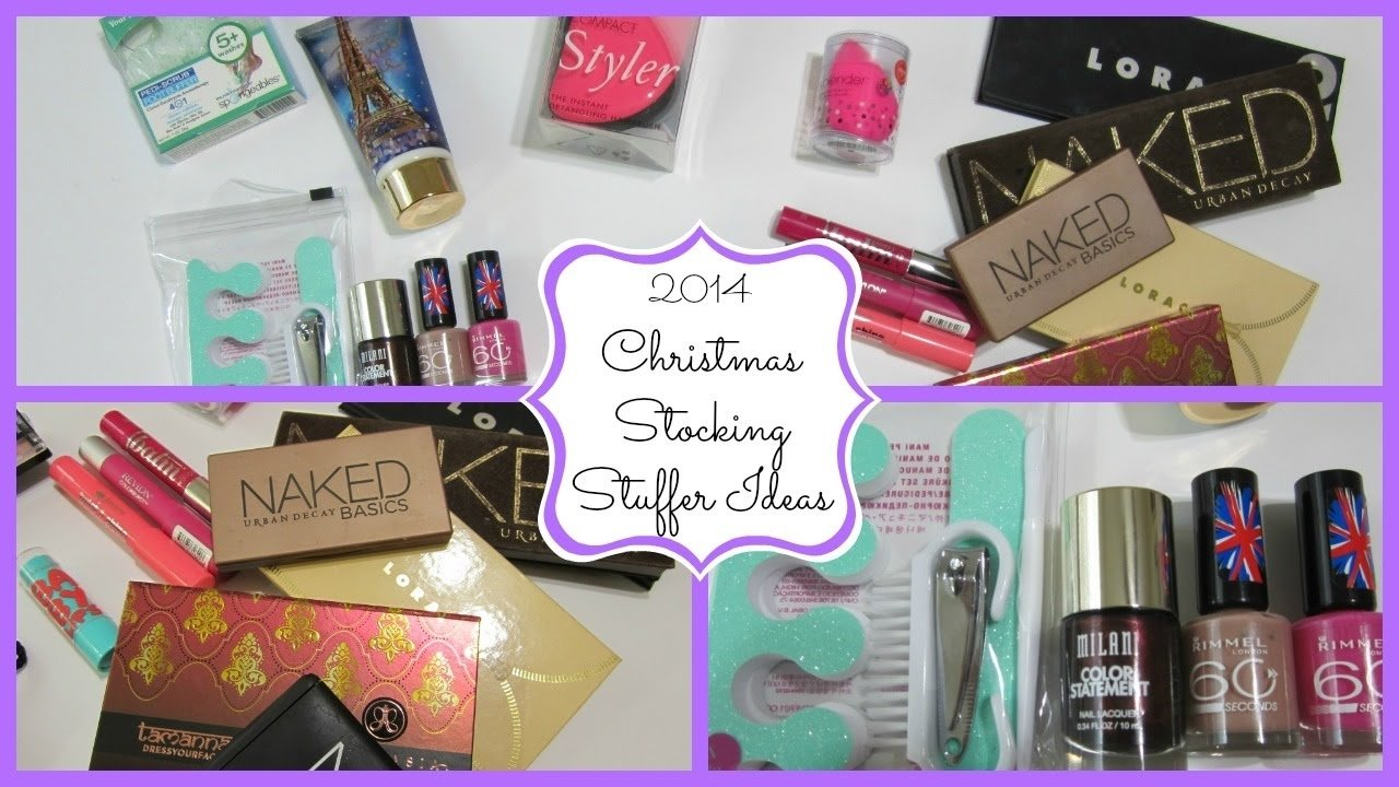 10 Great Christmas Stocking Stuffer Ideas For Adults christmas stocking stuffer ideas 2014 makeupcake84 youtube