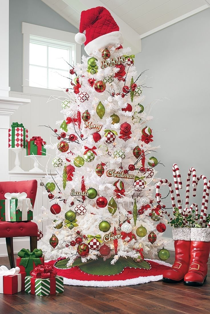 10 Pretty Unique Christmas Tree Decorating Ideas christmas tree decorations christmas decor holiday decorations
