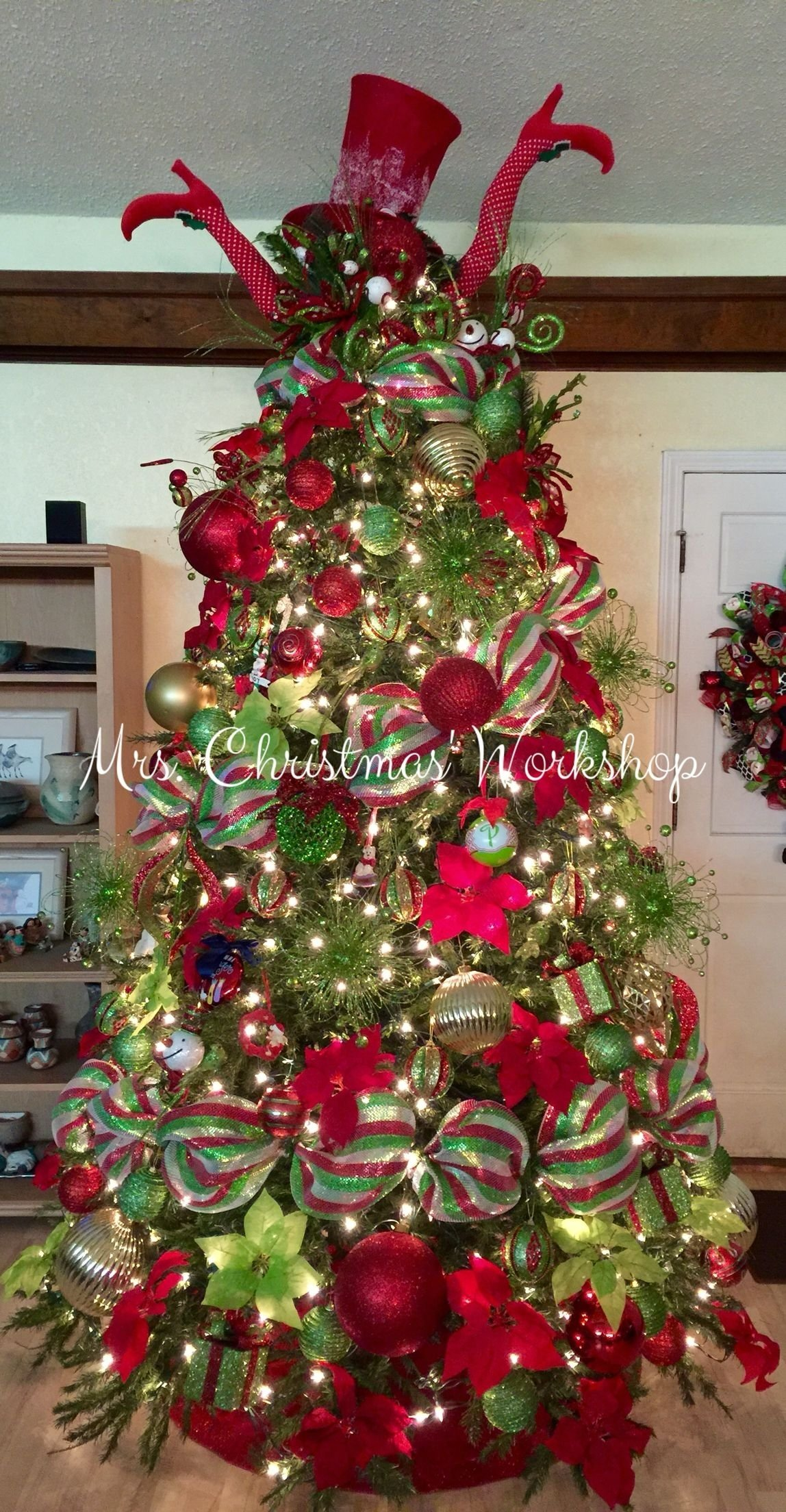 10 Ideal Ideas For Decorating Christmas Trees christmas tree red and lime christmas decorating tree ideas deco 1 2020