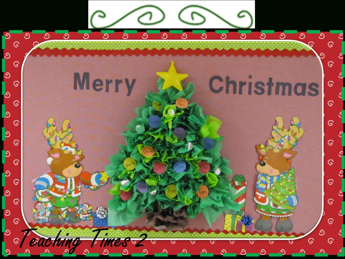 10 Lovable Christmas Bulletin Board Ideas For Teachers christmas tree tissue paper bulletin board 2020