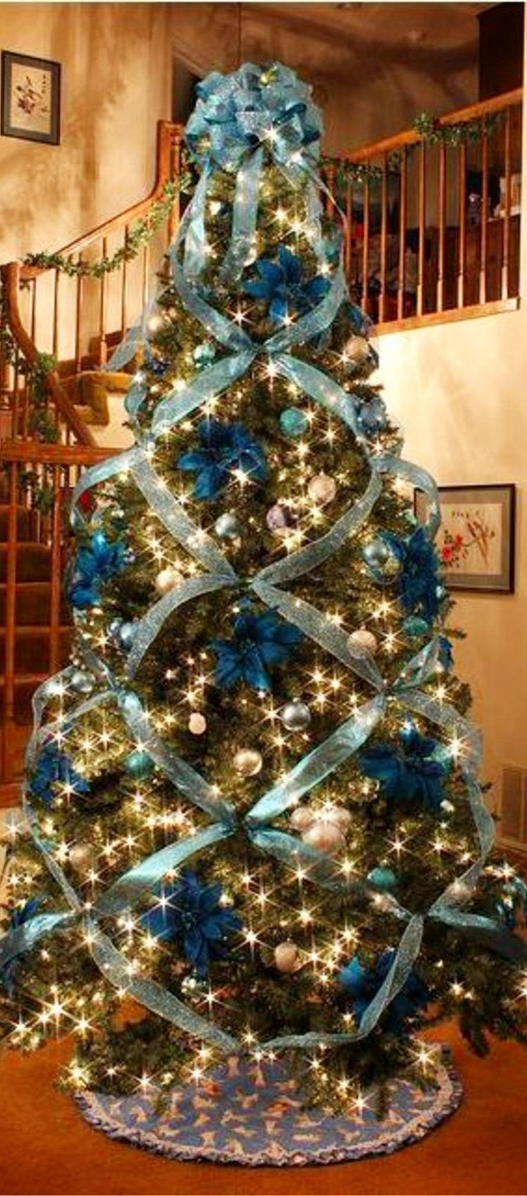 10 Awesome Christmas Tree Decorating Ideas Ribbon Christmas Trees Fake Christmas  Tree Decorating Ideas Christmas