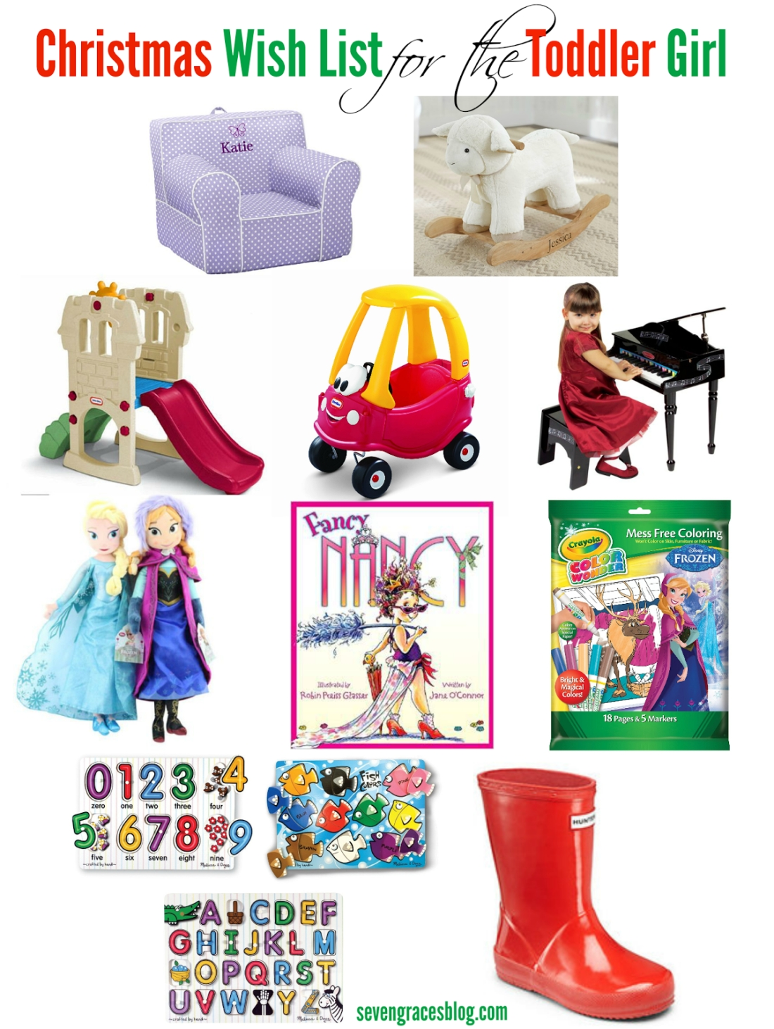 christmas wish list for the toddler - seven graces