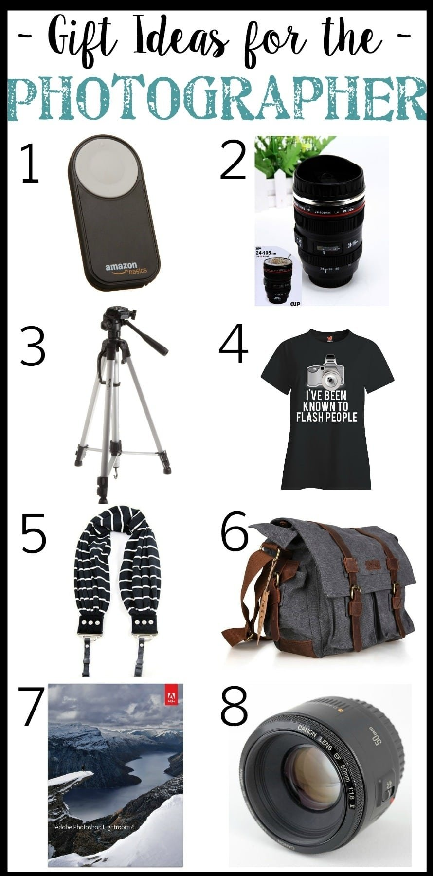 10 Nice Gift Ideas For A Photographer christmas wish list gift guide