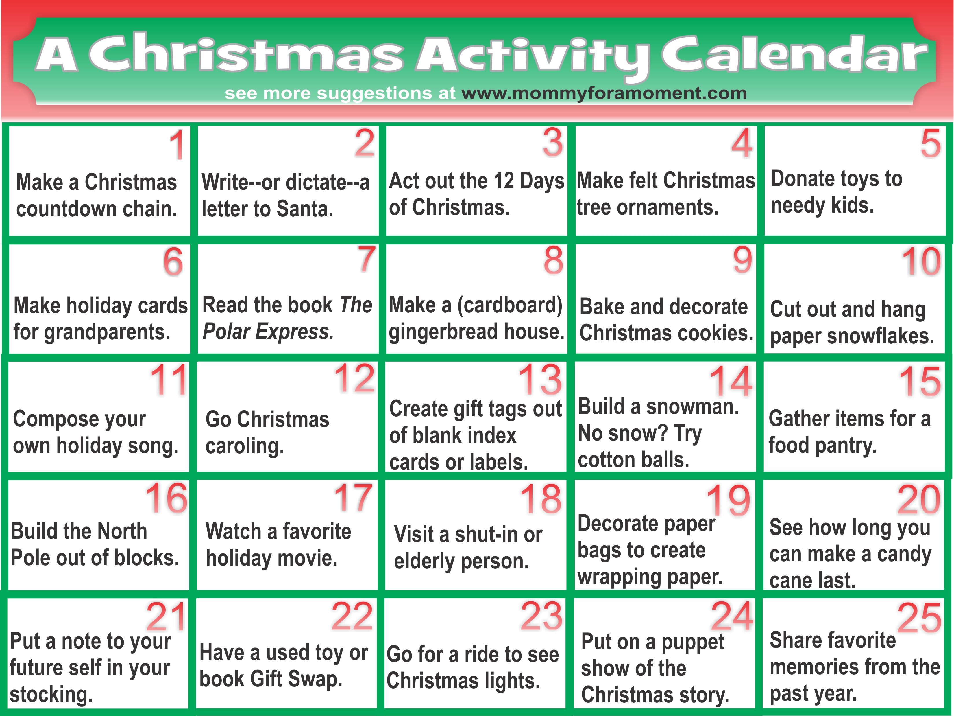 10 Most Recommended Christmas Game Ideas For Adults christmasactivitycalendar
