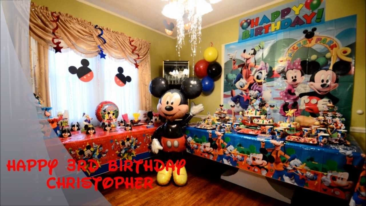 10 Famous Mickey Mouse First Birthday Party Ideas christopher mickey mouse birthday party youtube 3
