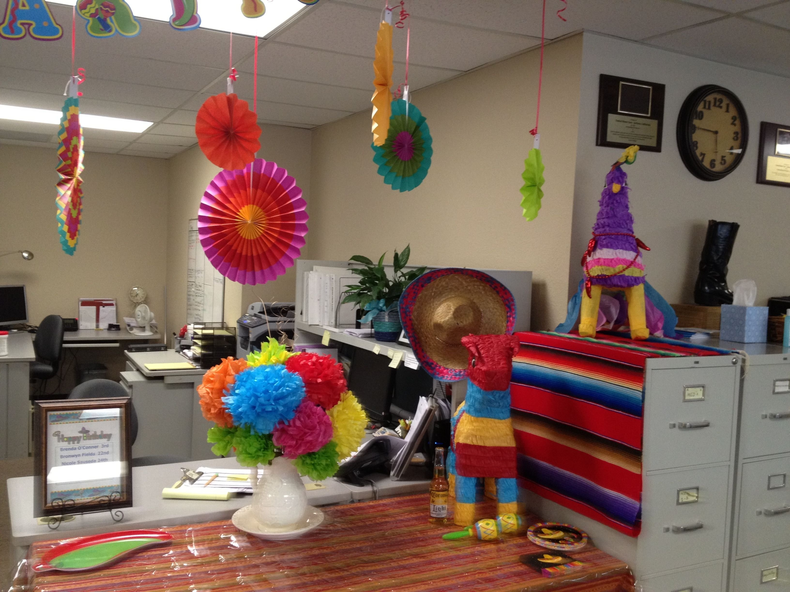 cinco de mayo office potluck | my decorations | pinterest | office