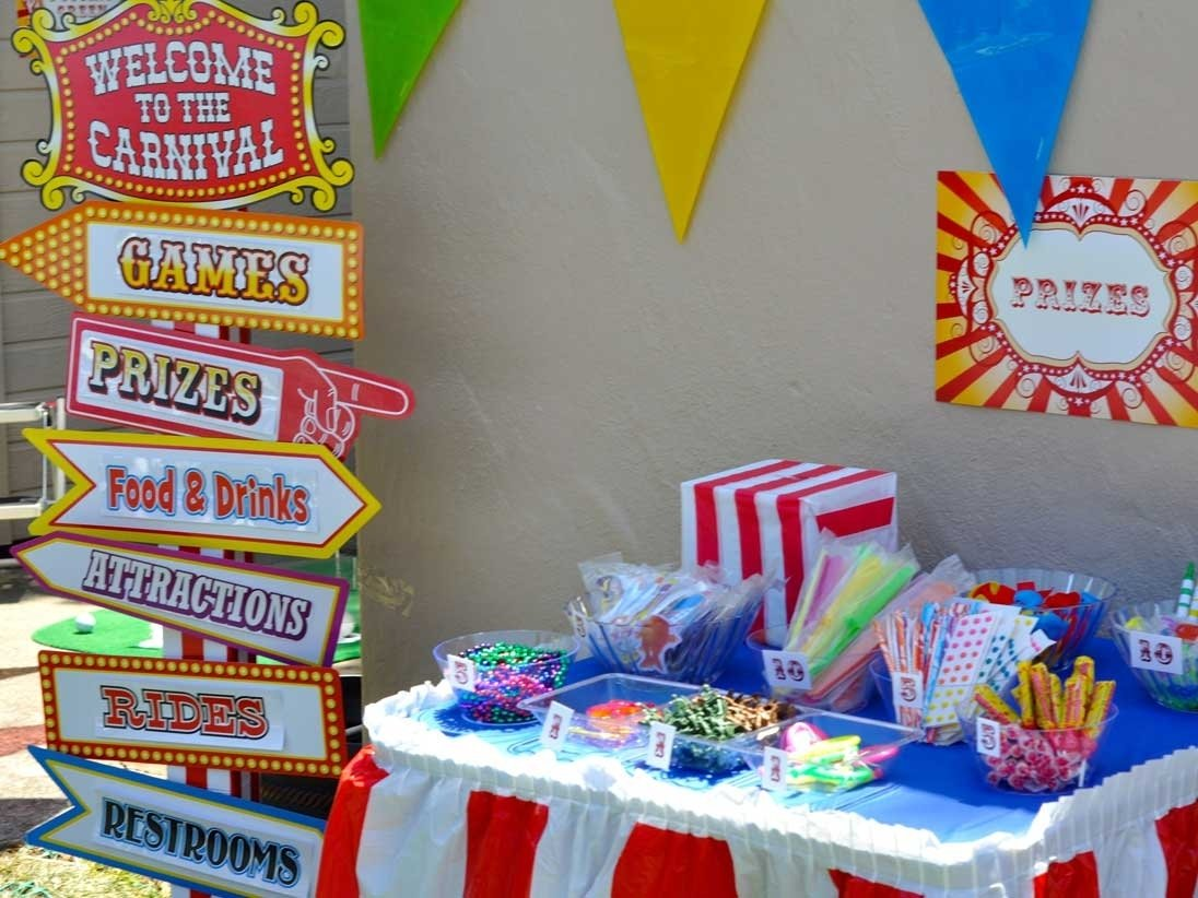 10 Unique Carnival Party Ideas For Kids circus carnival cherry on top parties 4