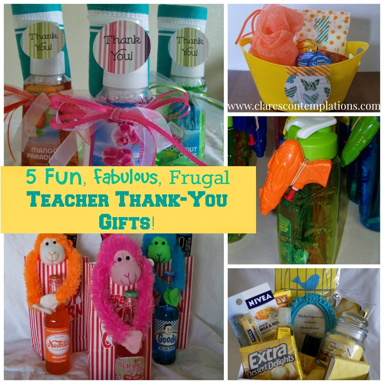 10 Spectacular Thank You Ideas For Teachers clares contemplations 5 unique thoughtful and frugal teacher 2020