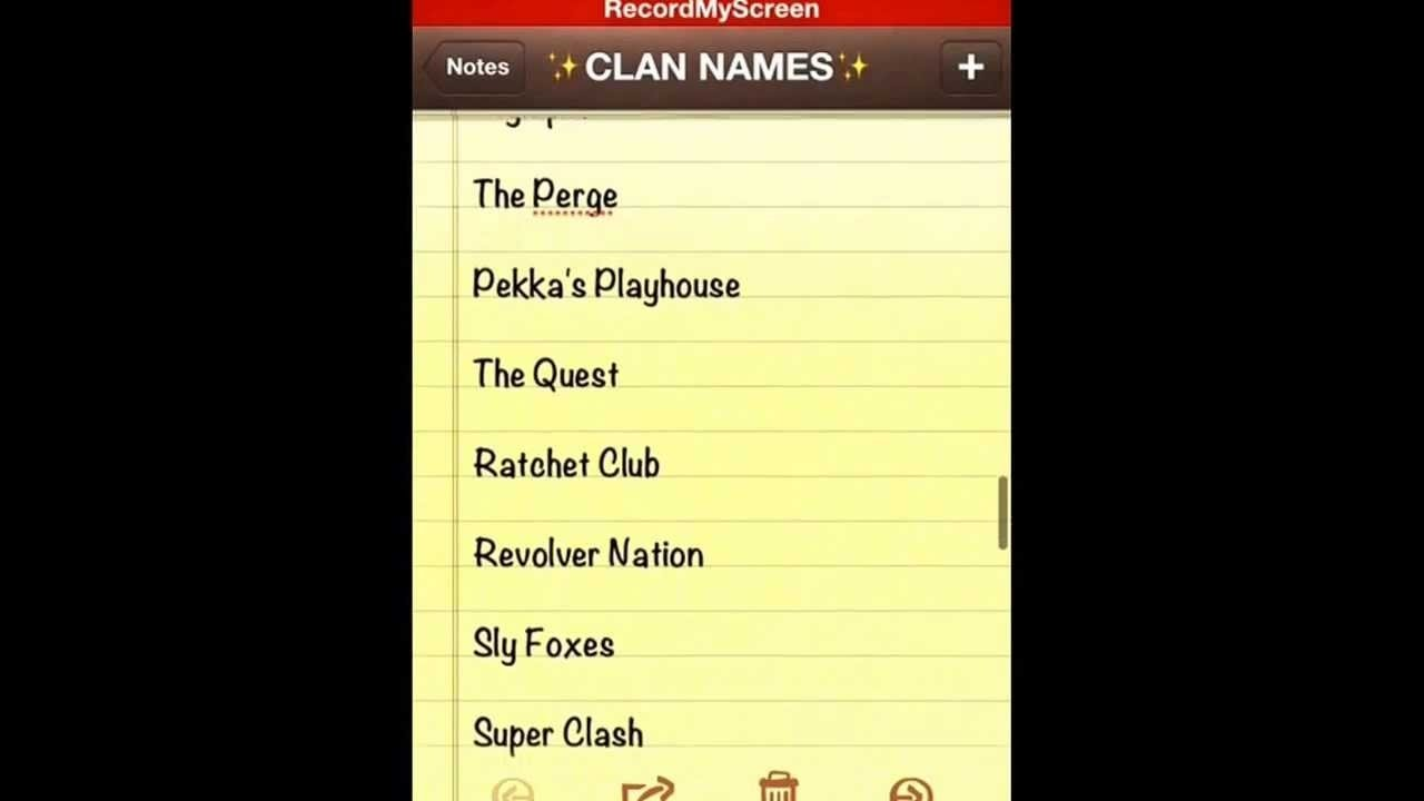 clash of clans- 52 original clan name ideas - youtube
