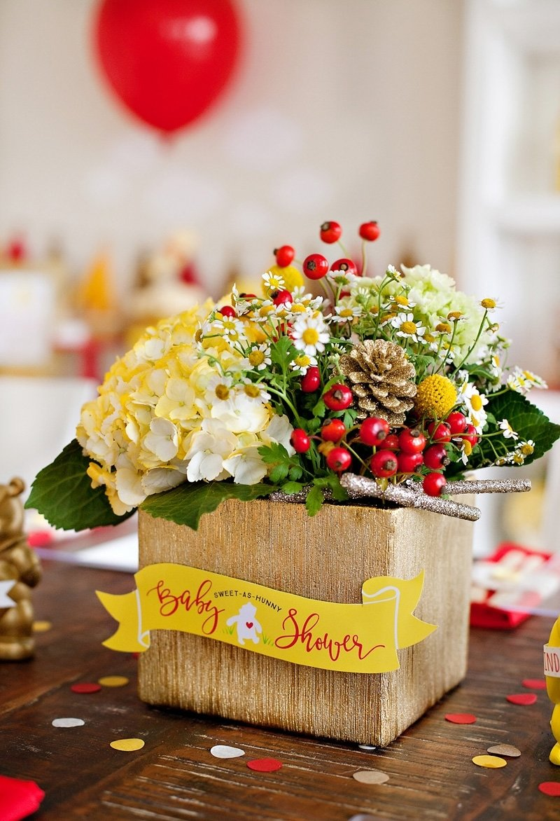 10 Wonderful Classic Winnie The Pooh Baby Shower Ideas classic modern winnie the pooh baby shower hostess with the 1 2020