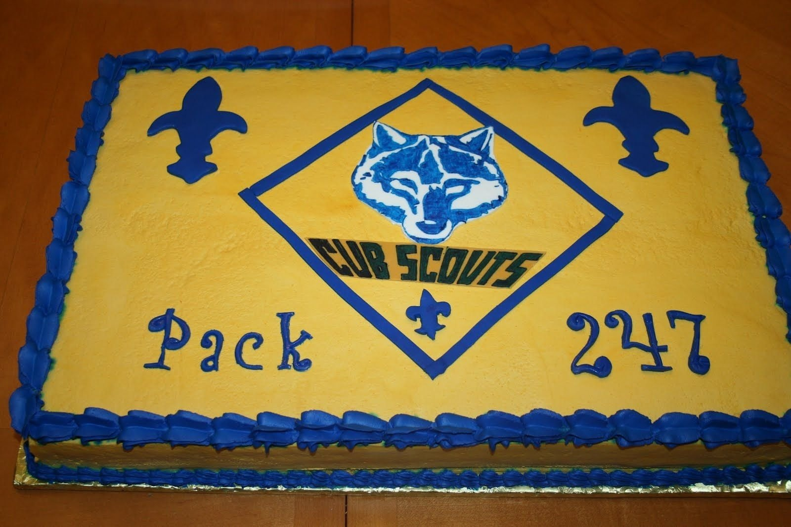classic sheet cake blue and gold boy scout banquet | blue and gold