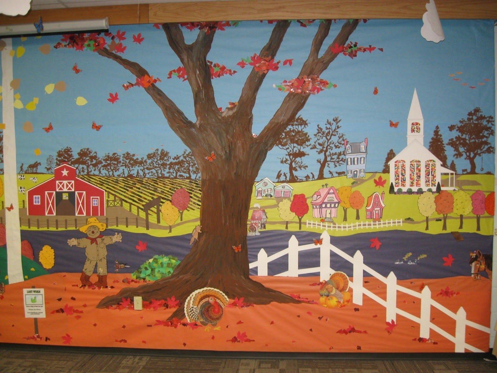10 Lovely Fall Bulletin Board Ideas For Preschool classroom bulletin board ideas 3