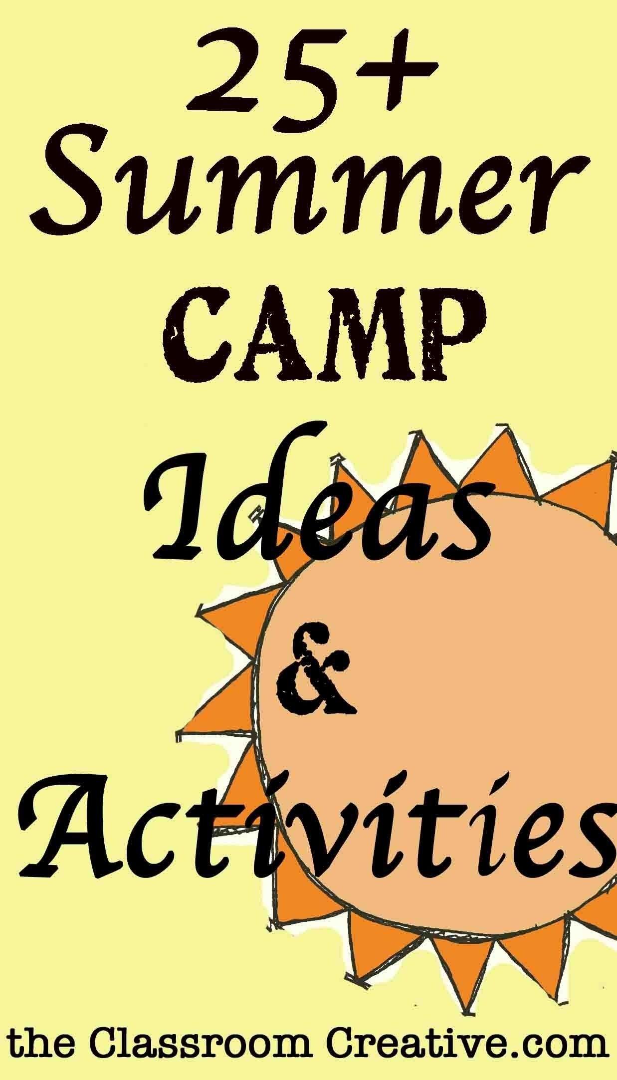 10 Perfect Preschool Summer Camp Theme Ideas classroom camp theme ideas summer camp activities theme ideas