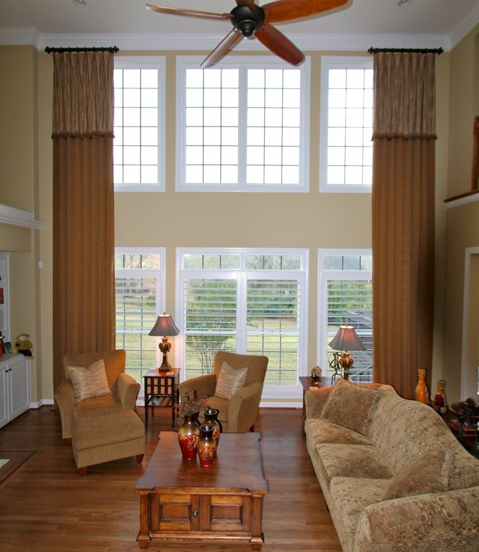 10 Famous Curtain Ideas For Large Windows classy design curtain ideas for large windows or 3 picture bay rod 2020