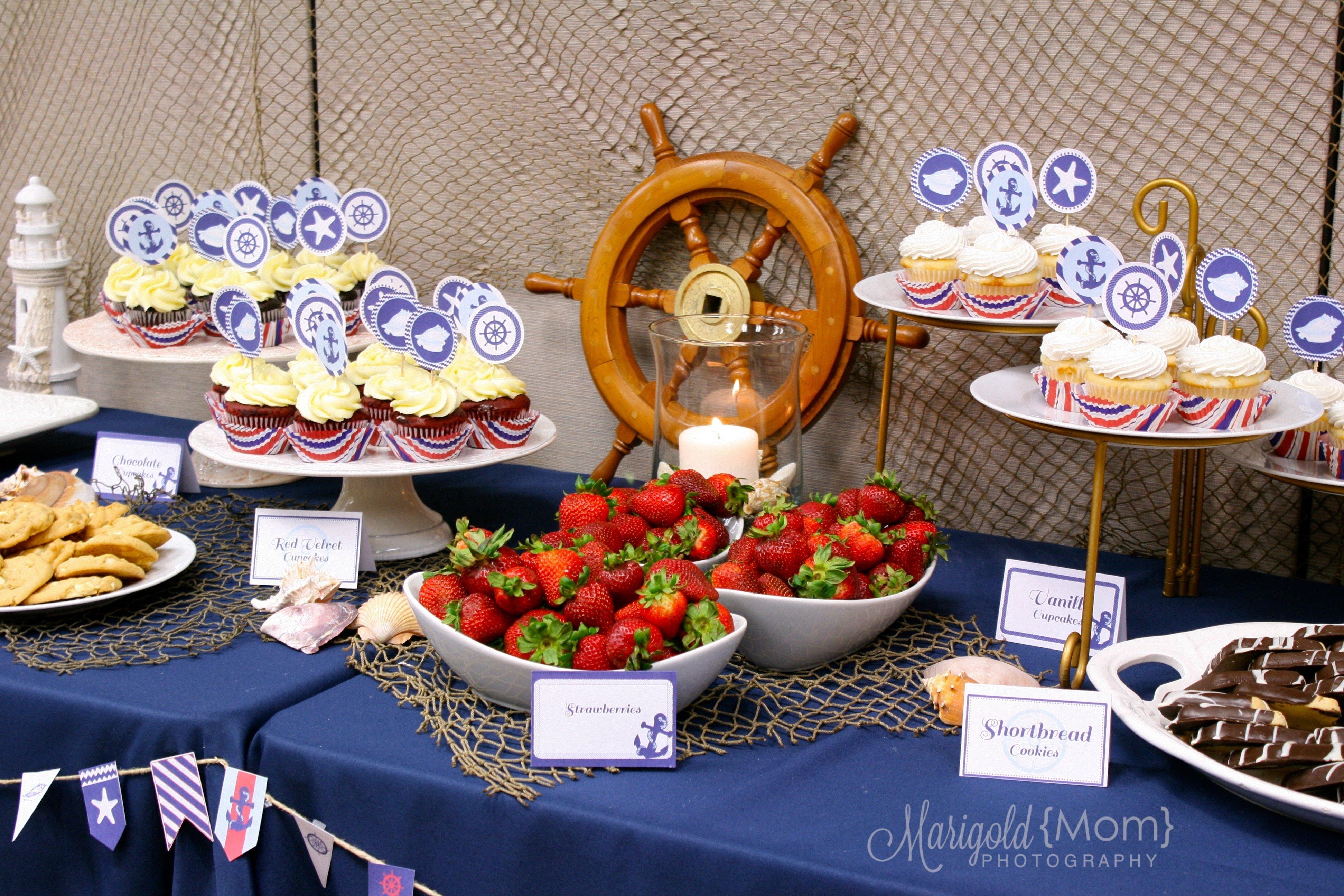 10 Beautiful Birthday Dinner Ideas For Mom classy nautical birthday party smash cake
