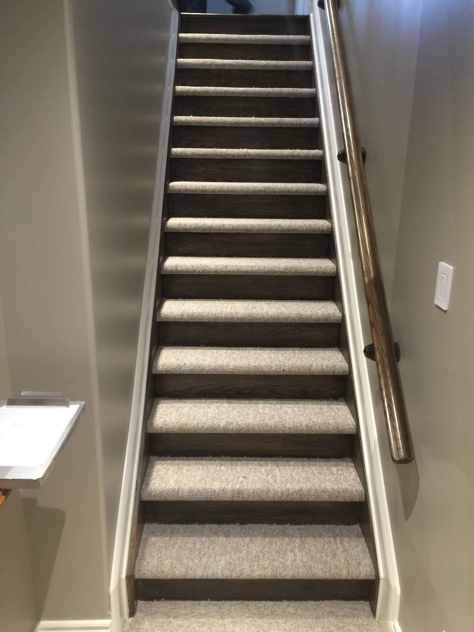 10 Gorgeous Ideas For Stairs Instead Of Carpet Closed Stairs Carpet And  Wood Risers Stairs And