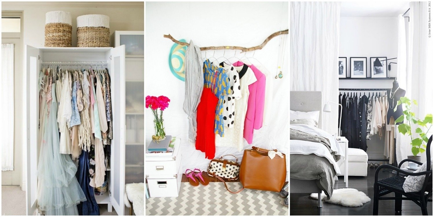 10 Attractive Closet Ideas For Rooms Without Closets closet ideas for rooms without closets freestanding linen cabinet 2020